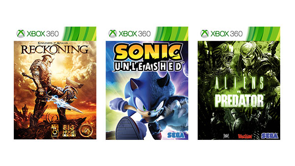 Kingdoms of Amalur: Reckoning, Sonic Unleashed, and Aliens vs. Predator