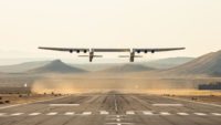 Stratolaunch Roc plane in the air
