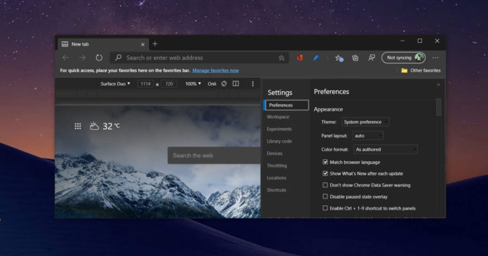 Edge Chromium browser