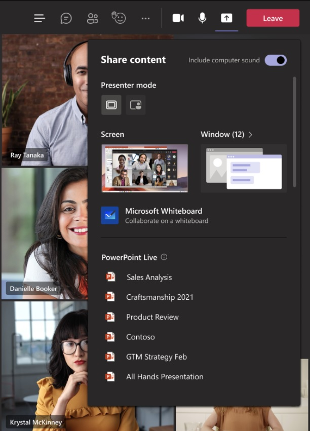 PowerPoint Live in Teams