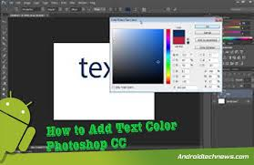 How to Add Text Color Photoshop CC