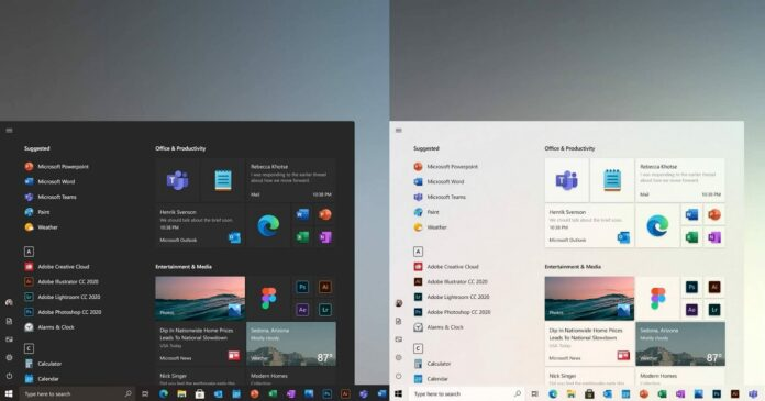 Windows 10 floating redesign