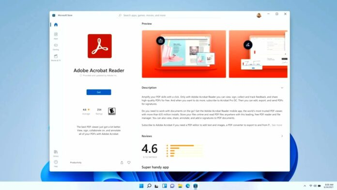 Windows 11 Store apps page